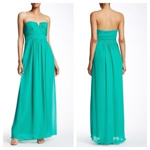 Ted Baker Alessa Strapless Silk Maxi Gown Dress 10